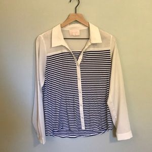 Skies are Blue Striped Button down